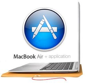 macbookAirにアプリケーションを入れました