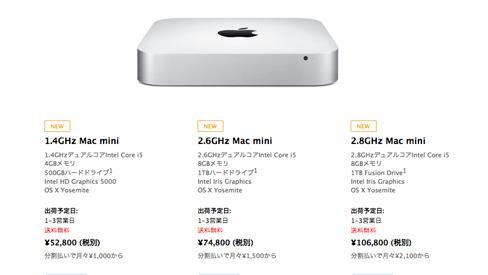 Mac mini2014