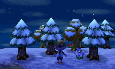 とび森 雪だるま
